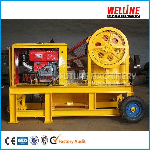 small jaw crusher diesel engine
