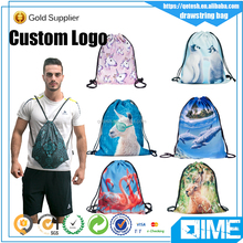 Simple Modern Style nylon Gym Sack Blank Wholesale drawstring Bag for men