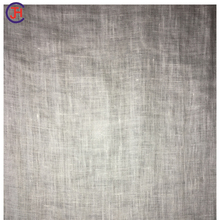 Woven plain stone washed linen dyed fabric