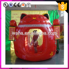 Inflatable cartoon cat booth for holiday decoration