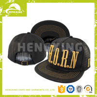 2014 Custom Guangzhou Crazy Bird Cap Industry co.,ltd Leather Snapback Cap
