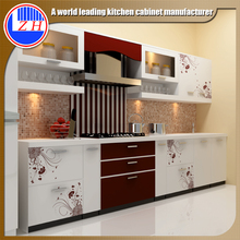 High gloss UV melamine MDF kitchen cabinets made by largest UV board manufacture in China