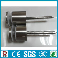 satin wall mounted stainless steel self-tapping glass standoff pin