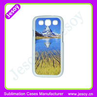 JESOY 2D Sublimation PC hard phone case for samsung galaxy S3 MINI with metal sheet