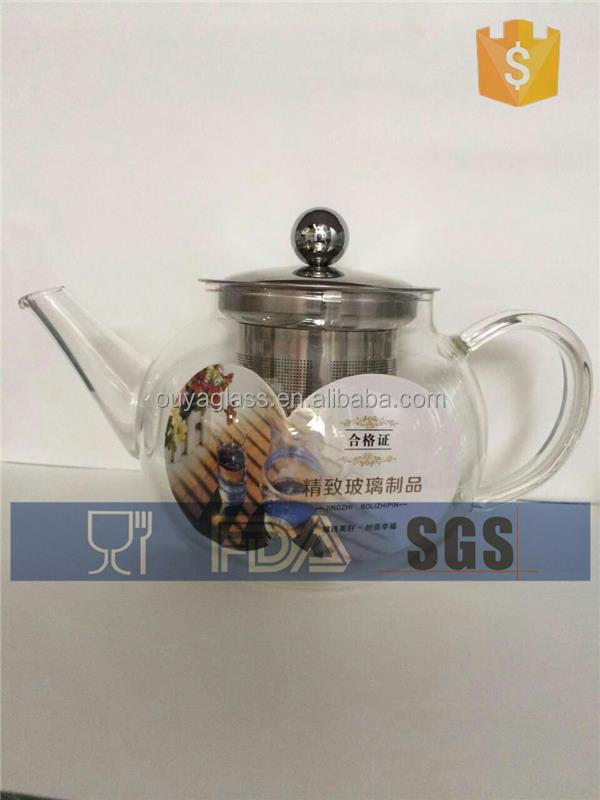 seal pot sublimation blanks arabic coffee pot glass liner octagonal glass pot