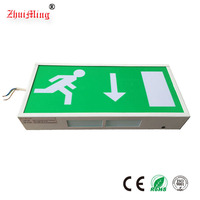 Rechargeable Exit Sign Lighting, Steel Casing Emergency Exit Sign