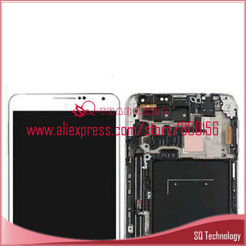 Smartphone for Samsung for Galaxy Note 3 Screen LCD with Digitizer Assembly with Frame white color