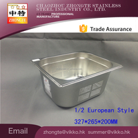 2015 1/2 15cm depth European style perferated GN food pan / punching square pan