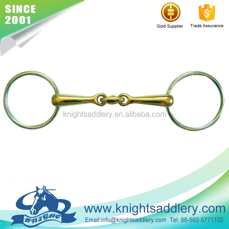 Small sizes of equestrian bits for miniature horse.