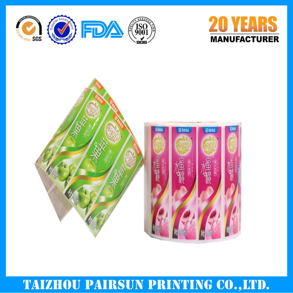 High quality waterproof adhesive sticker label