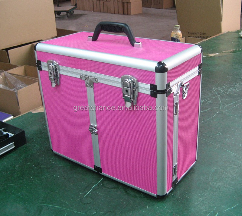 Customized aluminum case with shoulder belt - Pet groomers tack box - aluminum grooming case-aluminum tool case