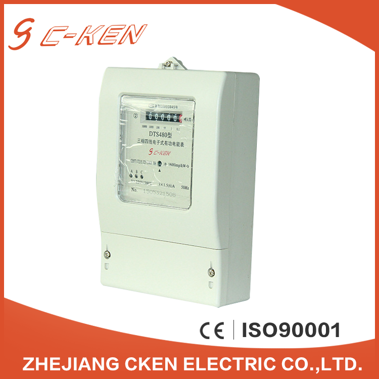 Cken Register Display Type 50HZ/60HZ Frequency Three Phase Automatic Digital Energy Meter