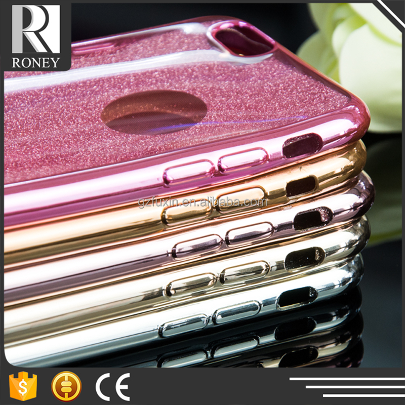 2017 Alibaba express electroplating glitter soft tpu case for samsung A7