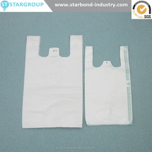 Grocery HDPE Cheap Wholesale plastic THANK YOU t-shirt Carrier Vest shopping bag on roll Packing printing smile face