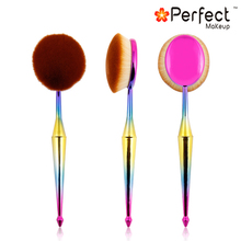 10pcs tooth brush shape fasion design oval makeup brush set