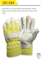 comfortable tool safety pig grain leather working gloves