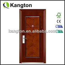 Red security steel door