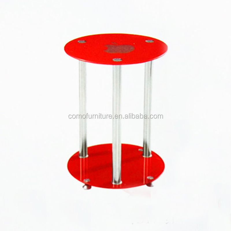 modern high quality luxury red glass top centre table for living room