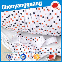 Dots printed fold over elastic for garment accessories