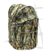 Hunting Blind 2 Man Chair Blind, Turkey and Deer Ground Blind with Open Woods Camo Hunting Tent