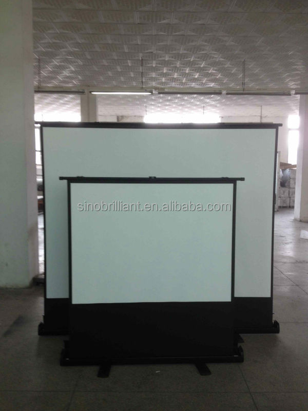 "60"" 4:3 Floor Pull Up Projection Screen/Portable Floor Standing Projector Screen"