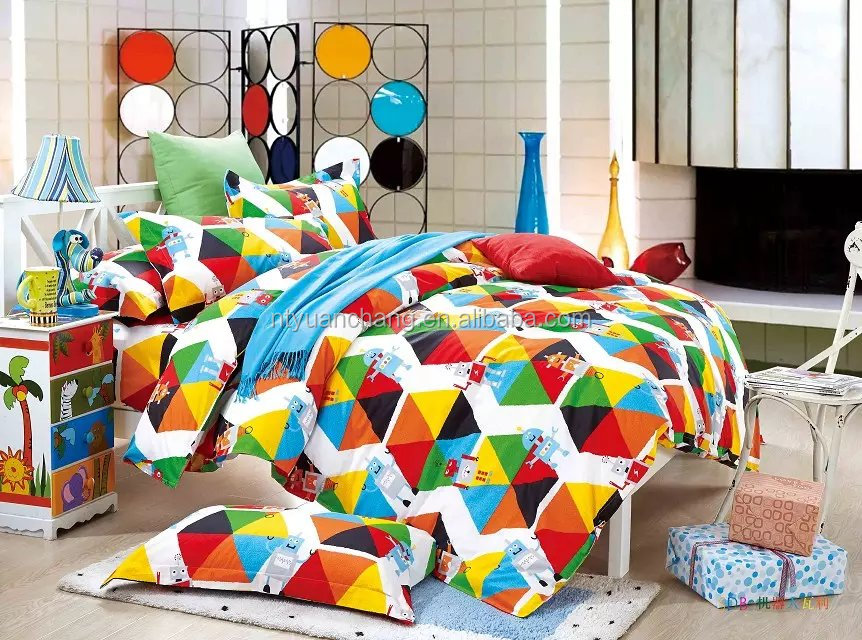 cotton printed bedsheet bedding set for teenagers