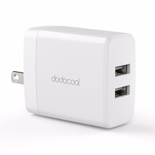 24W 2-Port USB Electric Wall Charger Portable Travel Power Adapter for Samsung iPhone Mobile Phone Chargers DA140WUS