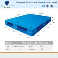 1100x1100 Shipping Size Mixed Plastic Pallet for sale