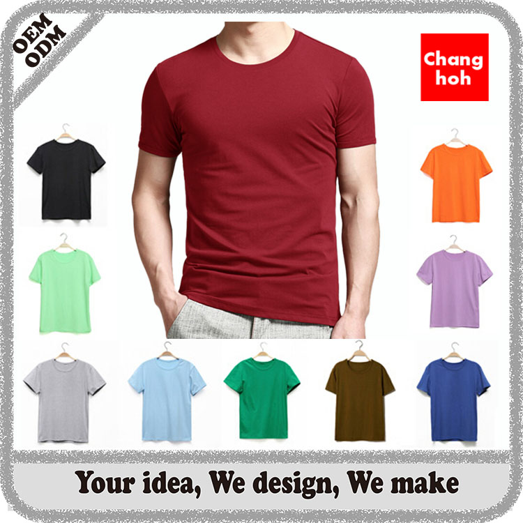 cheap wholesale custom slim fit blank 180 grams combed cotton t shirt