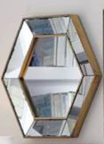 distressed antique bevel border mirror