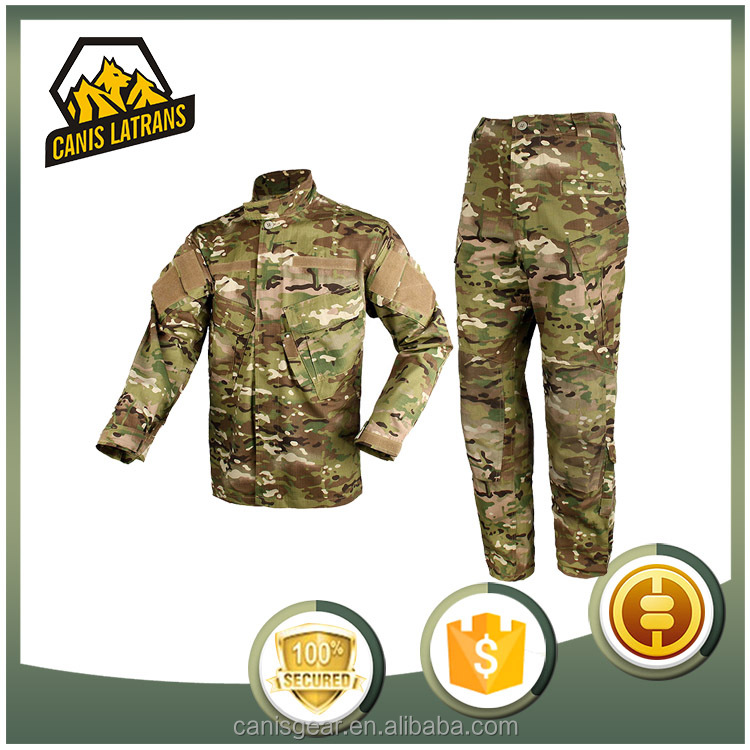 Custome outdoor sports BDU War game tactical gear solider uniform military clothes factory