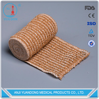 YD-30016 Hot Quality Cotton Spandex Crepe Elastic Bandage Skin Color with ISO & FDA