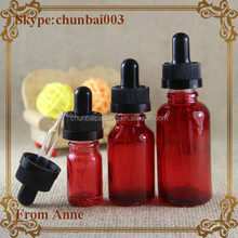 e liquid black child safety cap red glass dropper bottle 1oz