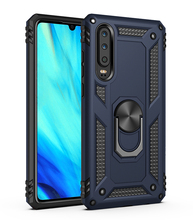 Metal ring Rotating kickstand Shockproof mobile phone case for huawei p30 armor shell
