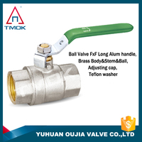 Green handle is new quality level of description of ball valve on YU HUAN OU JIA