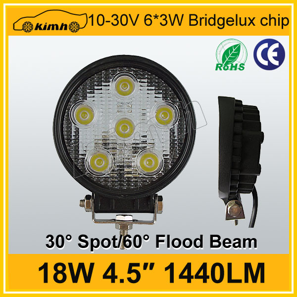 High power car accessory round shape led working light
