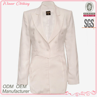 long sleeve slim-fit solid color women office skirt suit
