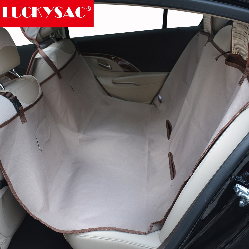 100% polyester waterproof pet dog car seat cover car back seat cover with pockets