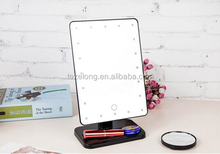 16/20 LEDs lighted mirror makeup/10x magnification makeup mirror/desk makeup mirror