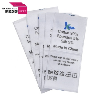 OEM Factory Price Clothes Care Label Printing Custom Label Printing