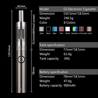 disposable e cigarette Bottom Double Charging 900mAh GS G3 kit electronic cigarette price in india