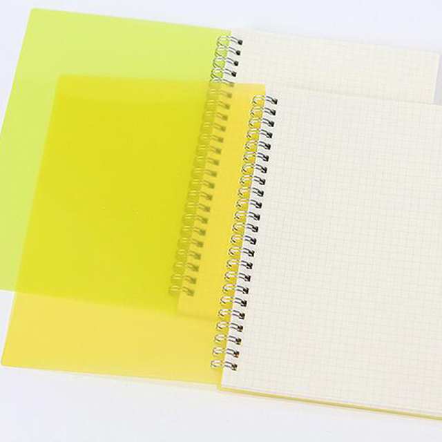 A5 B5 Cute Cosmetic PP Office School Stationery Line Grid Functional Planner Creative Blank Spiral Organizer