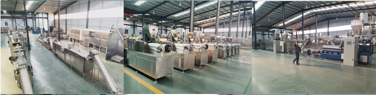 Stainless steel breakfast cereal corn flakes machine line