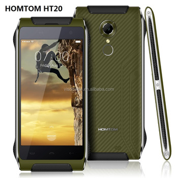 Newest Homtom HT20 TOUCH ID MTK6737 1.3GHz Quad Core 16GB IP68 4G LTE mobile phone android 6.0