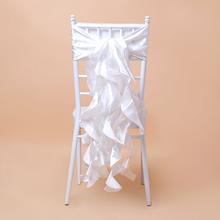 High quality organza curly willow champagne chair sashes