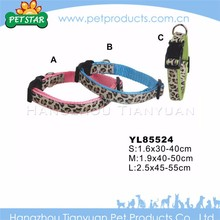Wholesale high quality cheap leather dog collars and leashes