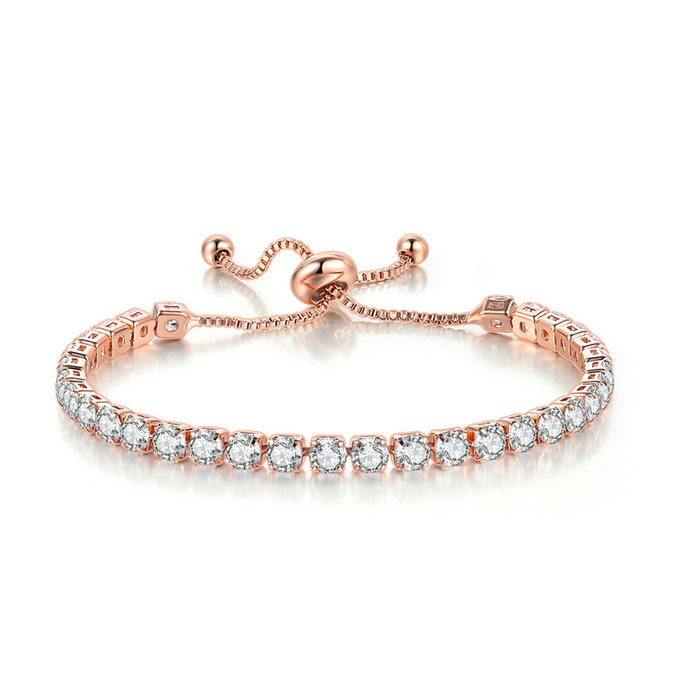 2019 Women charms jewelry 18k gold plated chain 1 row CZ Cubic Zirconia artificial diamond tennis Bracelets H133 H134 H136
