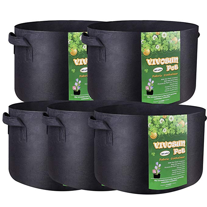 Garden Grow Bags 3 Gallon 5 Gallon 10 Gallon 25 Gallon Aeration Fabric Pots Container Garden Potato Felt Grow Bag