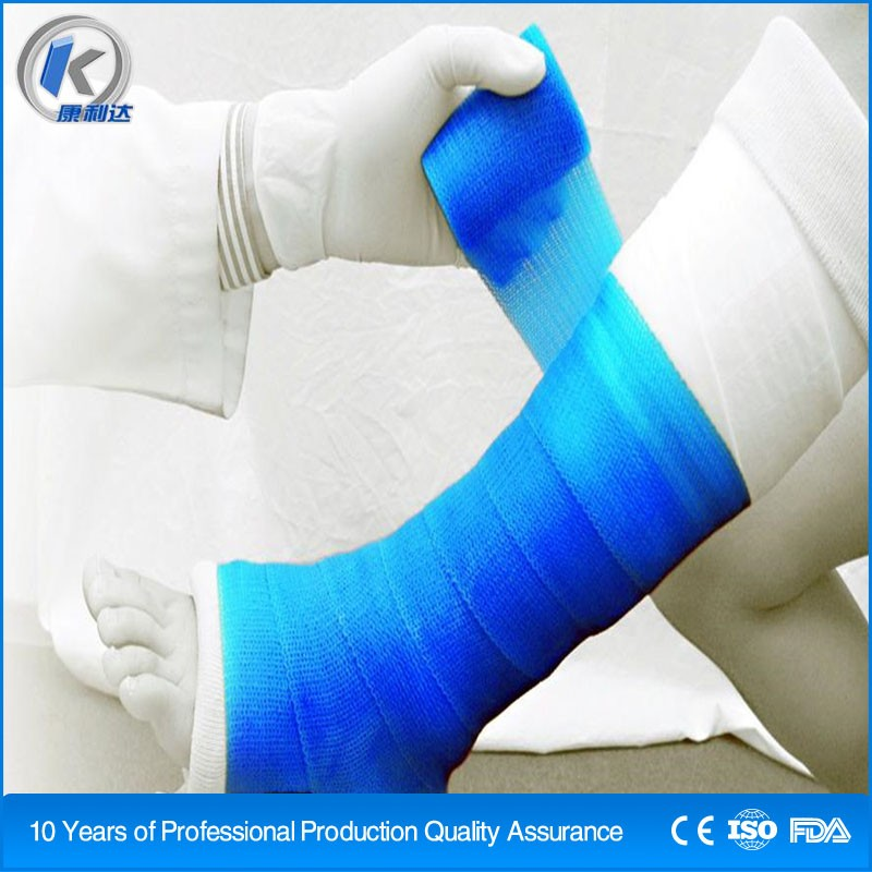 4'' orthopedic casting tape instead of plaster of paris bandages
