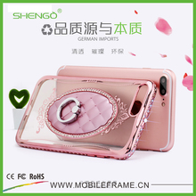 Top Selling Luxury Design Soft TPU Decorate Back Cover for Mobile Phones with Ring Holder